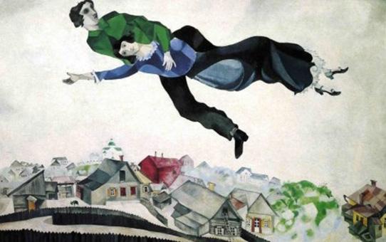 На Шагал сè му е на шега