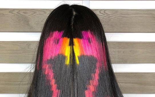 Pink Wool Hair